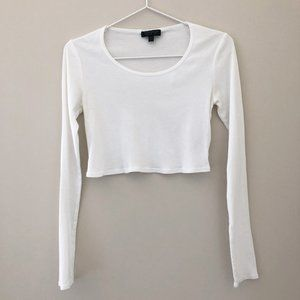Topshop Cropped Long Sleeve Top